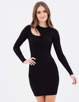 New Cut-Out Knit Body-Con Dress