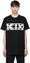Kokon To Zai Black Textured Logo T-Shirt