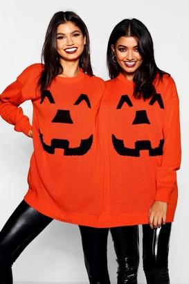 boohoo Halloween Pumpkin Twin Sweater