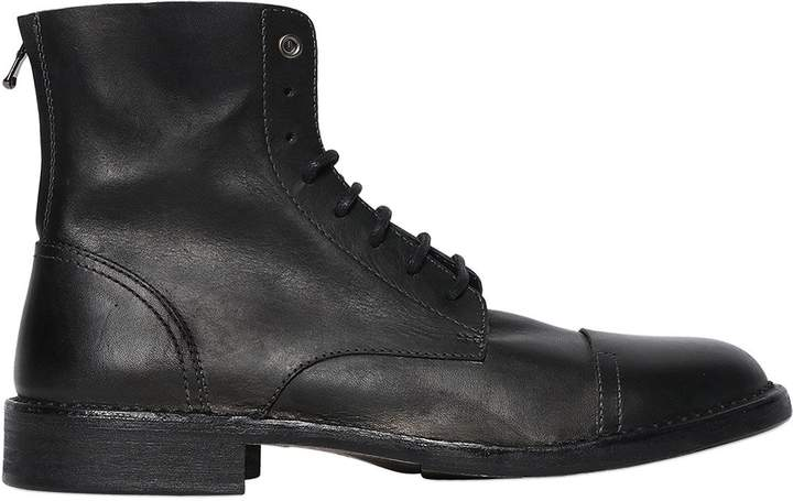 Diesel Raw Cut Lace-Up Leather Boots
