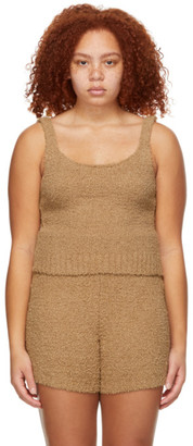 SKIMS Brown Knit Cozy Top