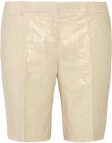 J.Crew Bocono metallic linen shorts