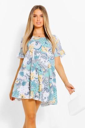 boohoo Paisley Smock Dress