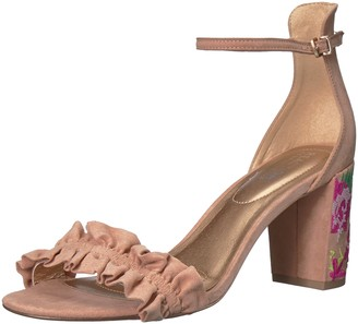 Kenneth Cole Reaction Women's Rise Ruffle Strap Open Toe Dress Sandal Heeled
