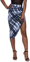 Iris Tie-Dye Asymmetrical Skirt