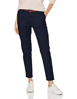Scotch & Soda Maison Women's Regular Fit' Chino, Sold with A Belt Trouser, (Cadillac Pink 1200), W28/L30 (Size: 28/30)