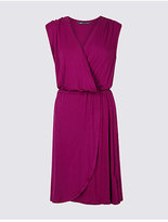 M&S Collection Sleeveless Wrap Over Beach Dress
