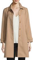 Theory Dafina Prospective Single-Breasted Car Coat, Palomino (Brown)