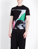 Mcq Alexander Mcqueen Abstract-print Cotton-jersey T-shirt