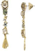 Alexis Bittar Geometric Crystal Drop Earrings