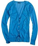 Pima cotton V-neck cardigan
