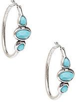 Lucky Brand Silver & Turquoise Hoop Earrings