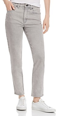 Rebecca Taylor La Vie Ines High-Rise Slim-Straight Jeans in Grey Mist