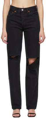 RE/DONE Black 90s High-Rise Loose Jeans