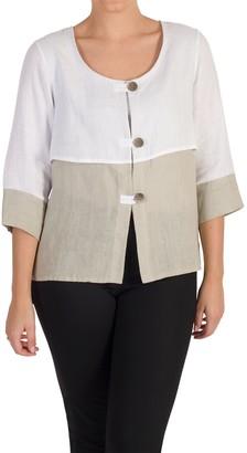 Chesca Colour Block Linen Jacket