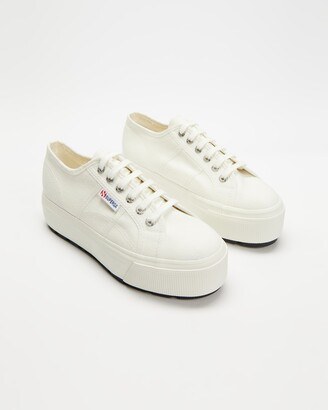 Superga Women's White Low-Tops - 2790 Cotw Tank - Women's - Size 40 at The Iconic