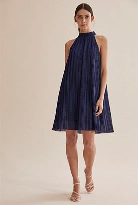 Country Road Pleat Mini Dress
