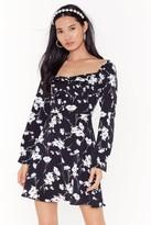 Nasty Gal Womens Growing On Me Floral Mini Dress - black - 4, Black