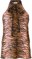 A.L.C. tiger print sleeveless blouse - women - Silk - 4