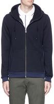 Scotch & Soda 'Home Alone' rib outseam zip hoodie