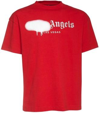 Palm Angels Las Vegas Spray Print Jersey T-Shirt