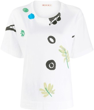 Marni floral motifs short-sleeved T-shirt