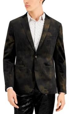 INC International Concepts Inc Men's Velvet Slim-Fit Jay Blazer, Created for Macy's