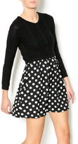 Kling Polka Dot Knit Dress
