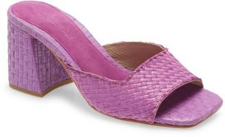 Jeffrey Campbell Melange Woven Slide Sandal
