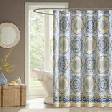 """Tangiers Medallion-Design 100% Polyester Shower Curtain - Blue/72"""" x 72"""""""