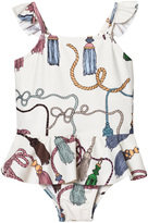 Mini Rodini Tassel Print Skirt Swimsuit