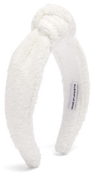 House Of Lafayette - Loulou Knotted Terry Headband - White