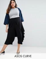 Asos Ruffle Side Culotte Pants
