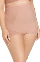 Spanx On Lace High Waist Briefs (Plus Size)