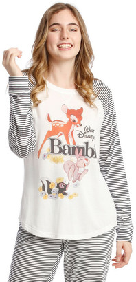 Disney Knit Long Sleeve Top White