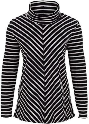 Tribal Long Sleeve Mitered Top (Black) Women's T Shirt