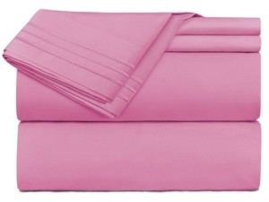 Clara Clark Premier 1800 Series 4 Piece Deep Pocket Bed Sheet Set, Queen Bedding