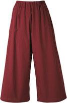 Apuntob - wide-leg cropped trousers - women - Cotton - M