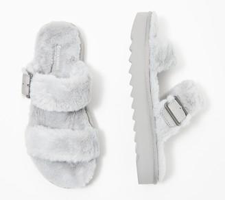 Koolaburra by UGG Buckle Slide Sandals - Furr-ah