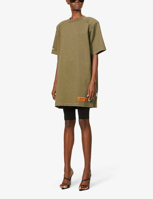 Heron Preston Branded cotton-blend T-shirt mini dress