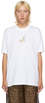 Burberry White Devon T-Shirt