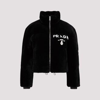 Prada Logo Shearling Jacket