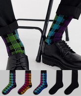 Asos Design DESIGN 5 pack ankle sock with check print save