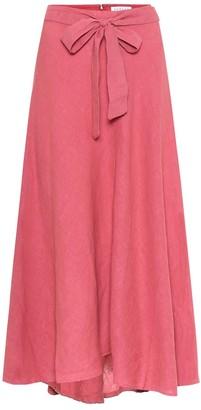 Velvet Raleigh linen midi skirt