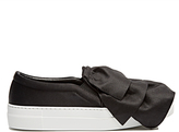 Joshua Sanders Frill satin slip-on trainers