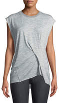 Rag & Bone Draped Heather-Knit Top