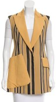 Sportmax Striped Fitted Vest w/ Tags