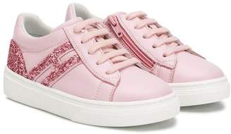 Hogan lace-up glitter sneakers