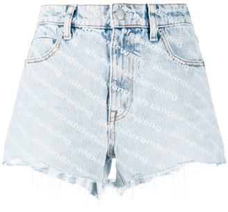 Alexander Wang Bite high-waisted denim shorts