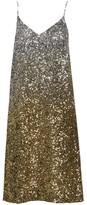 Dries Van Noten Ombre Sequin Silk Slip Dress